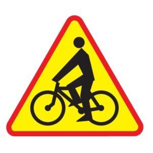 rowerzyści znak A-24